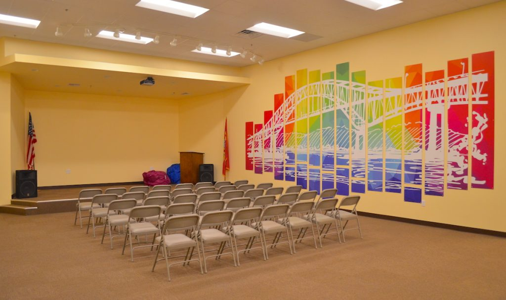 Stage and performance area at First Baptist Church Lynn Haven