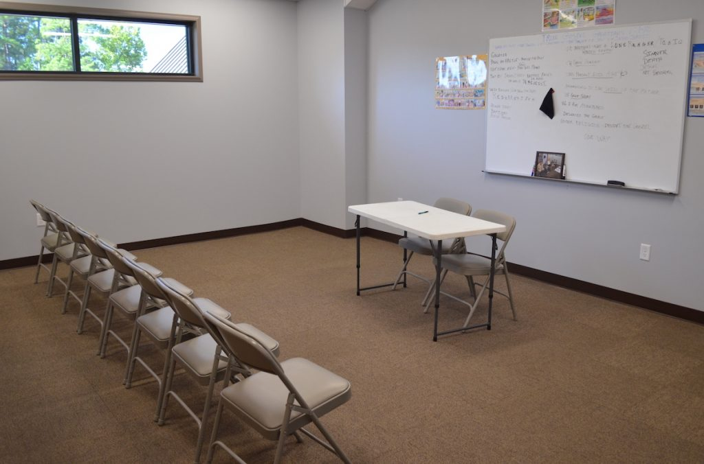 Classroom setup at First Baptist Church Lynn Haven