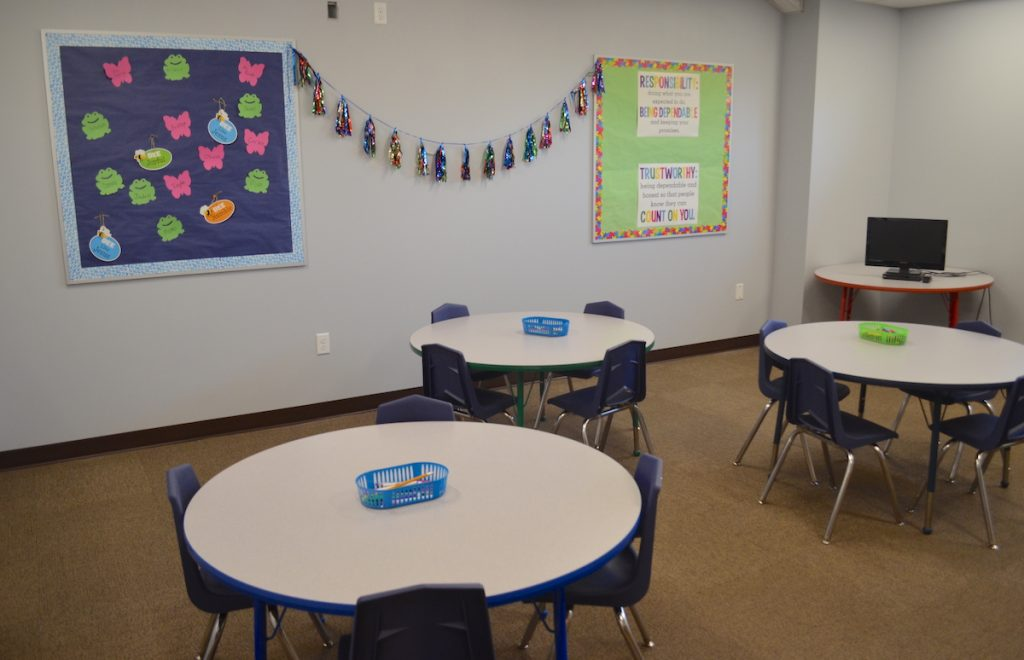 Classroom tables at First Baptist Church Lynn Haven