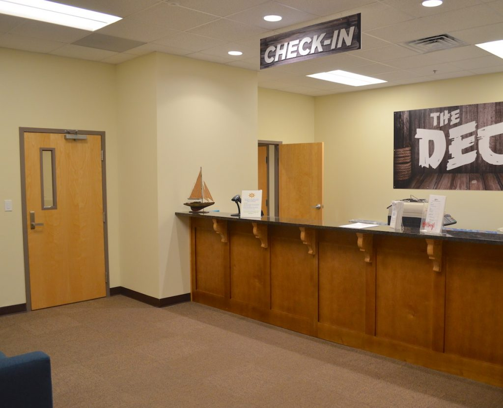 Youth reception area at First Baptist Church Lynn Haven