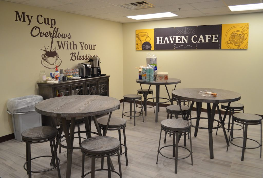 Coffee area at First Baptist Church Lynn Haven